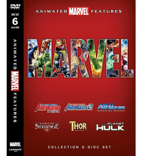 Coleccion Marvel Animated Features 6 Dvd Original Nuevo