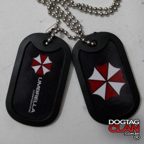 Colar Dog Tag Umbrella Resident Evil