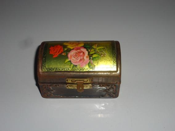 Porta Joias De Lata Com Desenho Floral Antigo