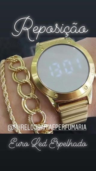 Eujhs31bab/4d Digital Mirror Dourado