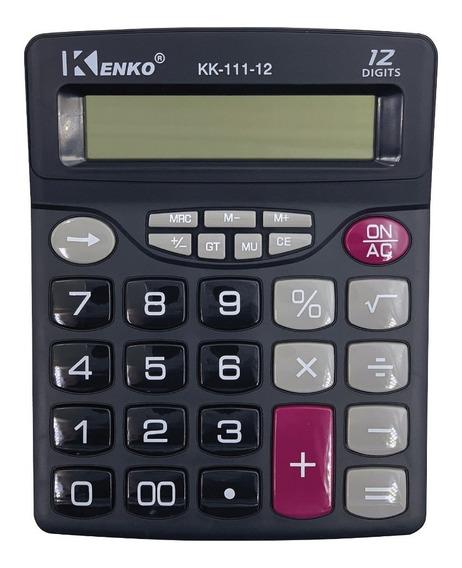 Pack X 5 Calculadora 12 Dígitos Teclas Grande Mu,mr,gt,% 111