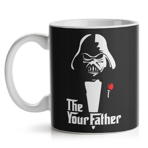 Caneca Star Wars Darth Vader The Your Father Cerâmica 325 Ml