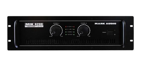 Amplificador De Potência Mk 6200 Mark Audio 1200w Bivolt