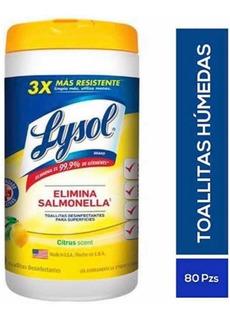 Toallitas Desinfectantes Lysol 80 Toallas C/u