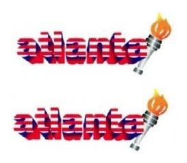 2 Adesivos Atlanta + Brinde Parati E Gol 2 Unidades