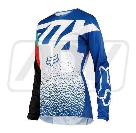 Camisa Fox Mx 180 Wmn Azul Feminina Tamanho M