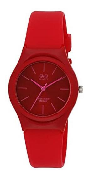 Relógio Infantil Feminino Vermelho Q&q Prova D