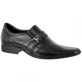 Sapato Social Bmbrasil 100% Couro Com Elástico 1107-02 Preto