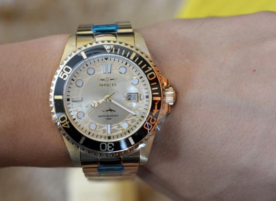Relógio Invicta 30025 30024 30026 Pro Diver Dourado Ouro 18k