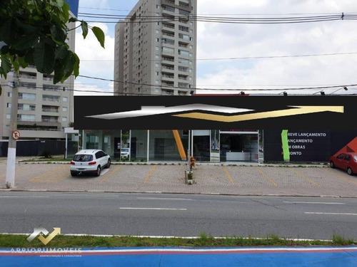 Salão Para Alugar, 139 M² Por R$ 4.900/mês - Jardim Do Mar - São Bernardo Do Campo/sp - Sl0178
