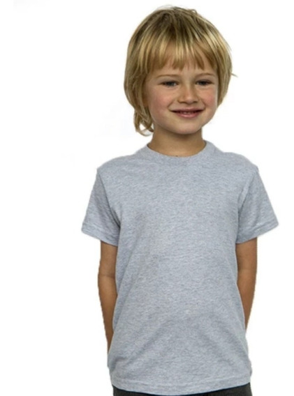 Remeras Gris/color De Niños Para Sublimar