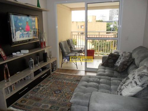 Apartamento Com 3 Dormitórios À Venda, 85 M² Por R$ 675.000,00 - Centro - São Bernardo Do Campo/sp - Ap1589