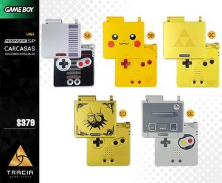 [ Carcasa Gba Sp ] Especial Nes Pikachu Zelda | Tracia