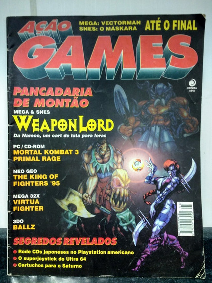 Hq Revista Ação Games 95 - Mortal Kombat - Abril 1995 Rjhm