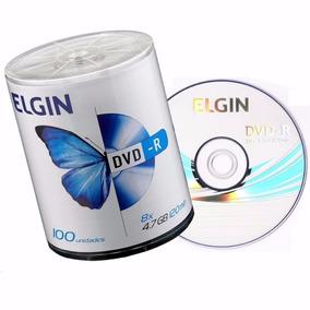 100 Dvd-r Elgin 4,7 Gb 120 Min 16x Com Logo. Grátis Caneta