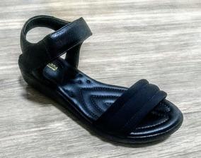 98d18db14b Sandália Via Scarpa Ortopédico Confort Velcro Preto