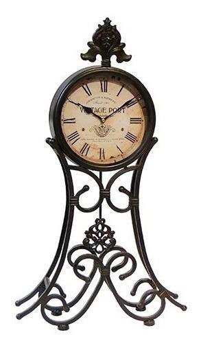 Relógio De Mesa Pêndulo Vintage Port Oldway 69x41x9