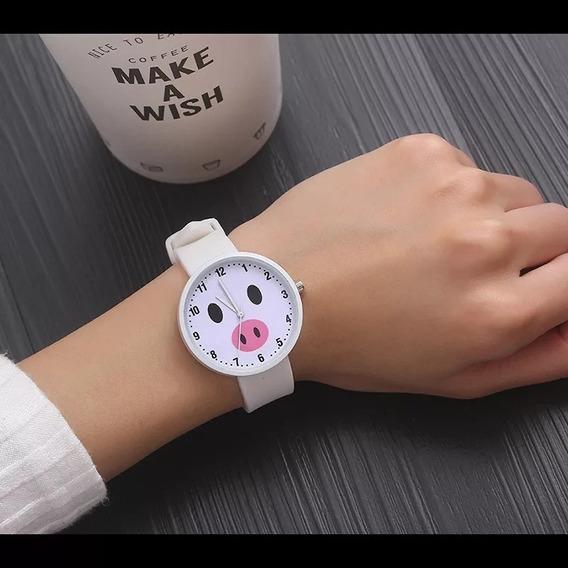 Reloj Cerdito Para Dama Moda Cochinito Puerquito Tierno
