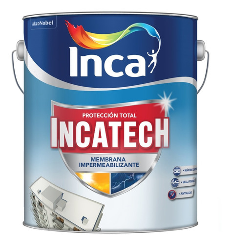 Imagen 1 de 1 de Impermeabilizante Incatech 4 Kgs. Inca