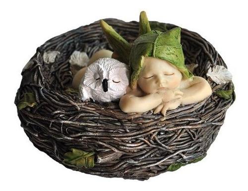 Imagen 1 de 4 de Top Collection Miniature Fairy Garden Y Terrarium Sleeping F