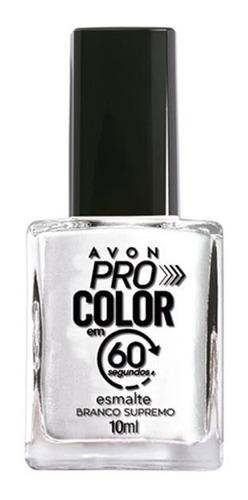 Imagem 1 de 1 de Avon - Pro Color 60 Segundos - Esmalte - Branco Supremo