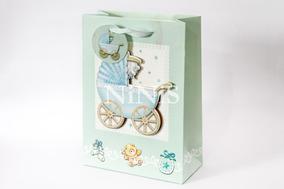 Kit 25 Sacolinhas 3d Lembrancinha Maternidade 24x17,5x8 Cm