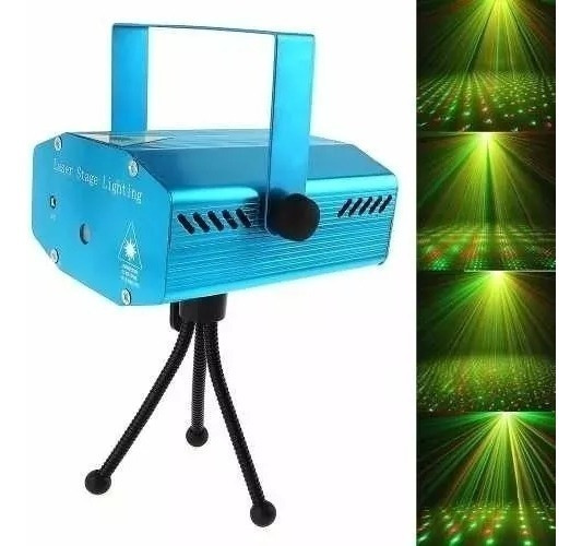Mini Laser Luz Led Projetor Raio Iluminação