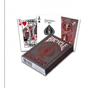 Cartas Naipes Poker Metalluxe Red Foil Back Bicycle - Magia