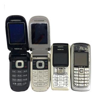 Lote C/ 10 Celulares Nokia 2660/2310/2760/6020 No Estado