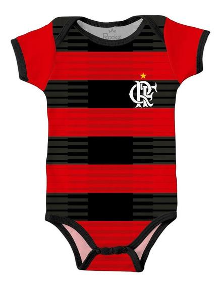 Body Flamengo Infantil Personalizado Com O Nome Do Bebê