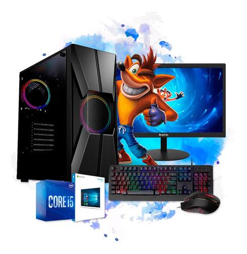 Imagem 1 de 5 de Pc Gamer Completo Intel I5 8gb Hd 500 Placa De Video Monitor