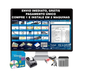 Sistema Loja, Controle De Estoque,vendas, Caixa, Pdv, Carnê