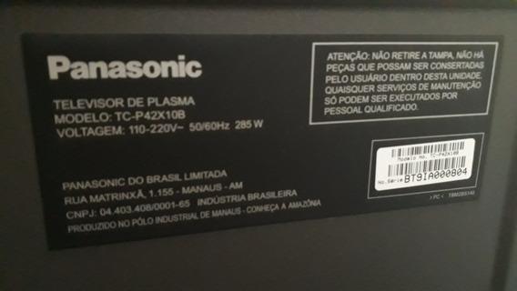 Tv Monitor Plasma 42 Hd Viera Panasonic - Tcp42x10b