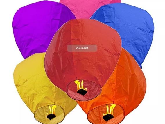 Paquete Globo De Cantoya 10 Pz Colores