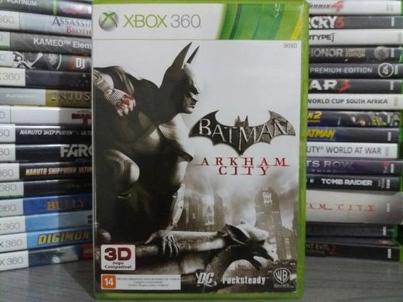 Jogo Batman Arkham City Xbox 360 Original Mídia Legendado Pt