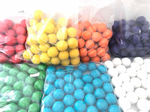 Imagen 1 de 8 de Chicles Bola Gigante Colores 200 Pz Dulce Maquinitas Fiestas