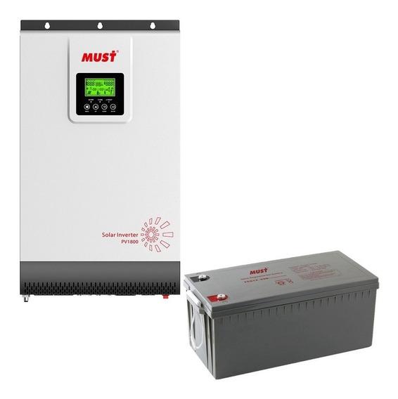 Ups Industrial Must Uso Intensivo Inversor Cargador Automatico + Regulador Solar Pwm 1000 Watts 12 Volts 100 Amperes