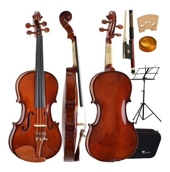 Kit Violino Eagle Ve441 4/4 Case Arco Breu Partitura