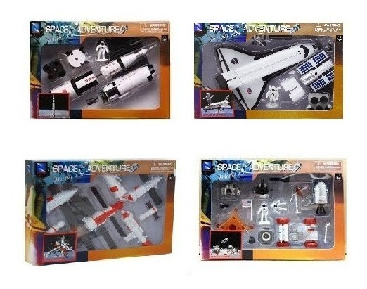 4 Modelos Space Shuttle Apolo Mir Lunnar Kit Montar 1/48
