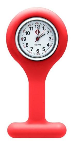 Relógio Silicone E Inox Lapela Enfermagem Saúde Liquidação