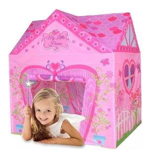 Casa Princesas Rosa Casita Techo Juego Nena Carpa Pvc Iplay