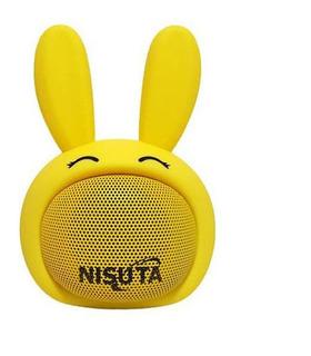 Nisuta Parlante Portatil Bluetooth Conejo Amarillo Ns Cuotas