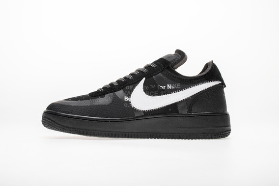 Tenis Nike X Off-white Air Force 1 Low Black