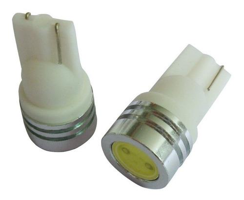 Lámpara Tuning Luz Led T10 1 Led 1watt Autos Motos Pack X 2
