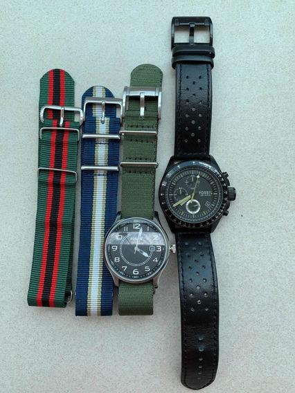2 Relógios Fossil: Fs4511 & Ch2687