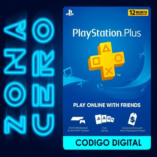 Imagen 1 de 3 de Playstation Plus12 Meses Suscripción Tarjeta Psn Online