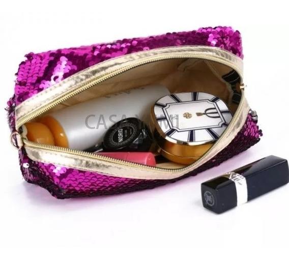 Porta Cosmeticos Lentejuelas Reversibles Cartuchera Escolar