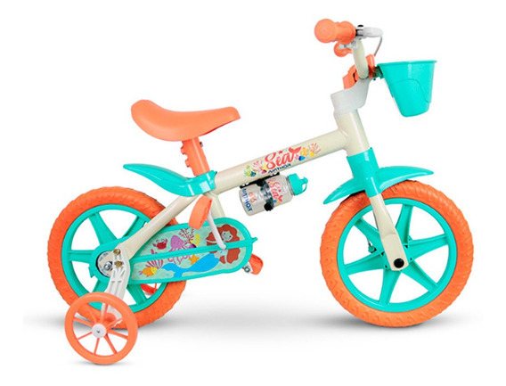 Bicicleta Infantil Nathor Aro 12 Sea Feminina