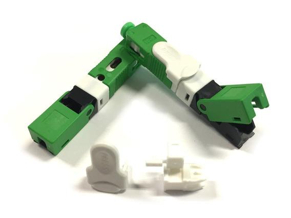 Fast Conector Reutilizável Ftth Sc/apc Verde D-01 C/ 100 Uni