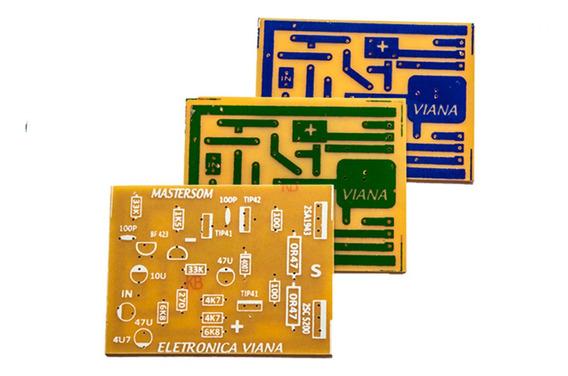2 Placas Para Montar Amplificador 100w Rms Com C5200 E A1943